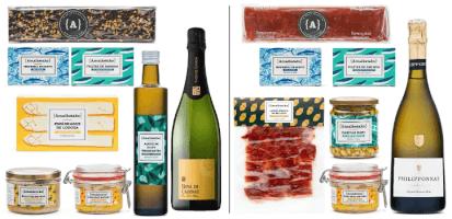 Cestas de Navidad con productos gourmet