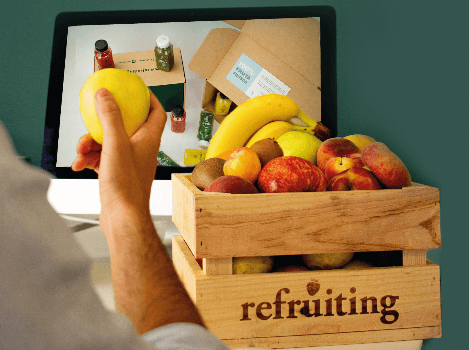 Cestas de fruta fresca