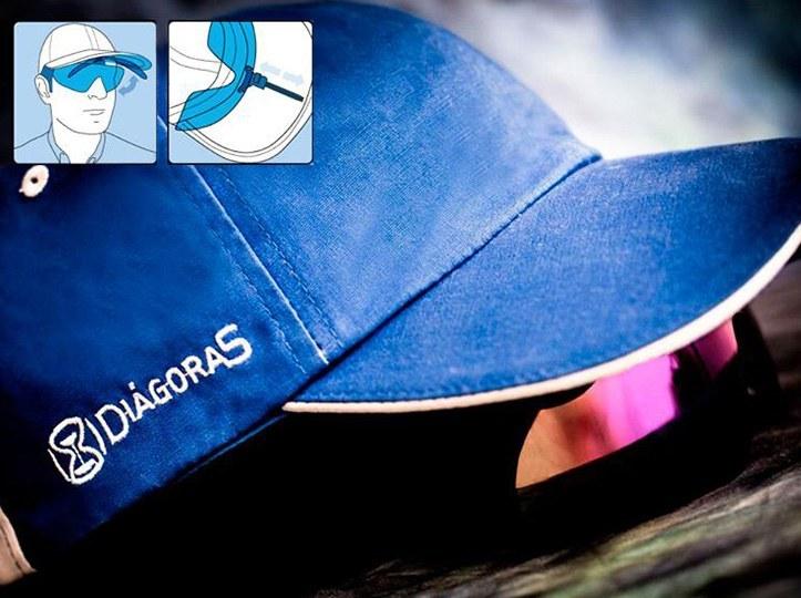 Gorras personalizadas con gafas de sol incorporadas