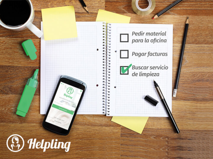 Helpling limpia tus oficinas