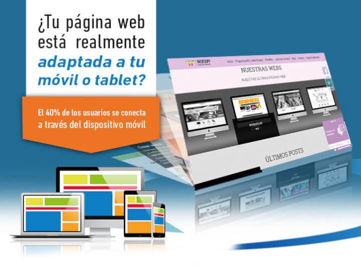 Disfruta de una web con diseño responsive