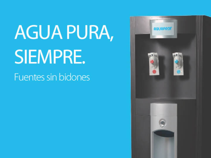 Fuentes de agua gratis durante 3 meses