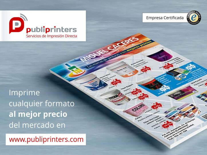 Impresión de flyers, folletos, tarjetas de vista...