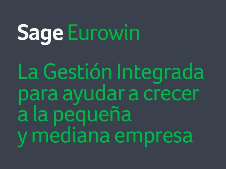 Disfruta del software de gestión SAGE EUROWIN *Oferta válida hasta 30/03*