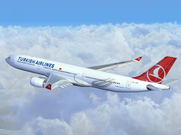Vuelos económicos con condiciones exclusivas con Turkish Airlines