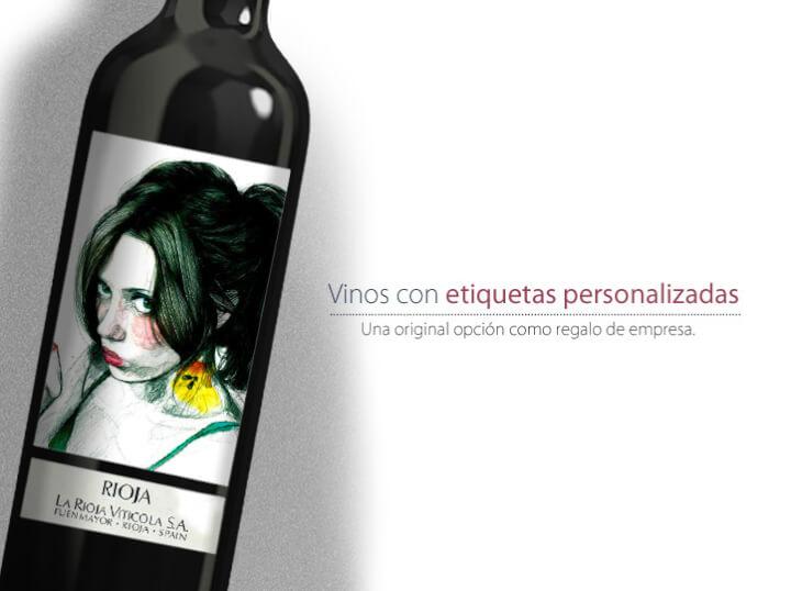 Botellas de vino con etiquetas personalizadas