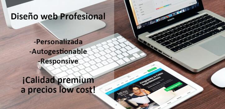 Tu primera web corporativa a buen precio por Soluciones Low Cost