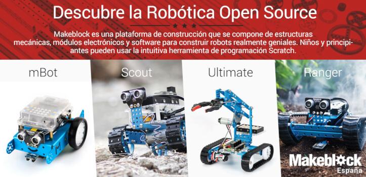 Construye tus propios robots con las piezas y kits de Makeblock