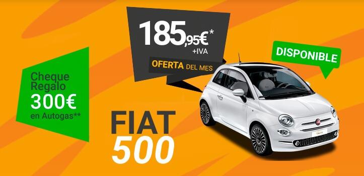 Renting de FIAT 500  Autogas a un precio inimaginable