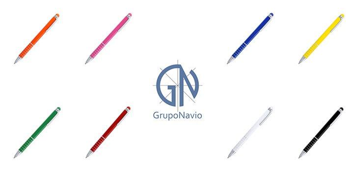 Bolígrafos personalizados con puntero para pantalla táctil