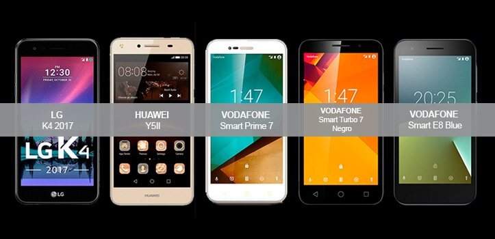 Pásate a Vodafone y llévate teléfonos móviles gratis