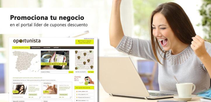 Promociona tu negocio en el portal líder de cupones descuento