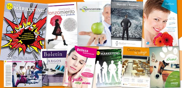 Mantén informados a tus clientes con boletines y revistas digitales