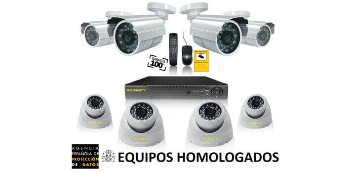 Kits de 2 a 8 cámaras de seguridad