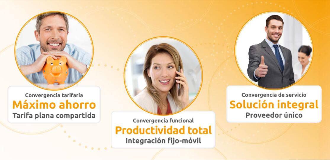 Centralita virtual + telefonía fija y móvil + Internet + faxtomail