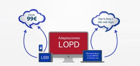 Cumple con la LOPD y LSSI