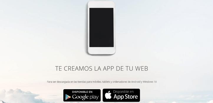 Página web responsive con hosting, dominio y App para Android e iOS