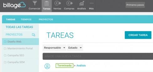 Facturación + CRM + tareas