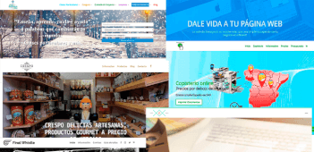 Página web corporativa en Wordpress con hosting y dominio