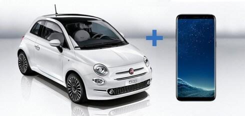 Renting de FIAT 500 lounge Híbrido Gasolina+GLP