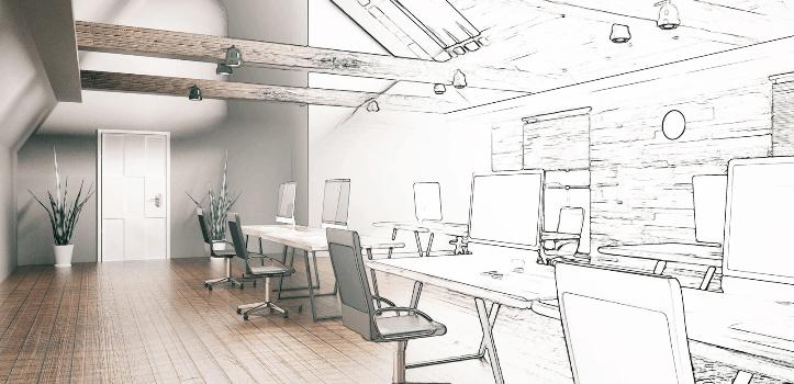 Proyecto de reforma de oficina en 3D personalizado